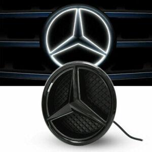 Car Led Emblem Grille Badge Logo White Light For Mercedes-Benz ML GL G A B C CLA