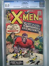 X-Men #4 First Printing CGC 8.0 **1st Scarlet Witch** Marvel Comics 1964