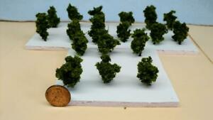 Z SCALE - HAND CRAFTED TREEZ - Olive Green - Correct Sized for Z Scale - 18 Pack