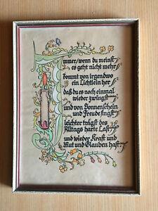 Schönes altes Spruchbild 22x16 cm