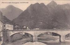 C3060) CARPANE' (VICENZA), AL VERSO PIANTA DELLA FERROVIA DELLA VALSUGANA.