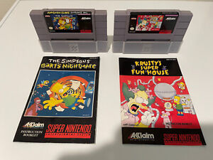 The Simpsons: Bart's Nightmare + Krusty's Super Fun House - SNES - w/Manuals