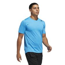 Adidas Hombre Atletismo Freelift Deporte Ajustado 3-Stripes Camiseta Gimnasio