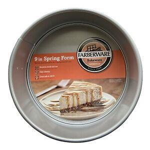 NEW Farberware 9-Inch Nonstick Bakeware Round Springform Pan, Gray