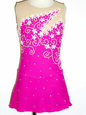 CUSTOM MADE TO FIT Elegant Figure Skating Dress WITH CRYSTALS *SALE*!!