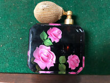 """Vintage Decorated Lucite Perfume Bottle Atomizer  3 1 /4"""" Tall"""