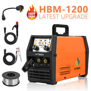 120A MIG Welder 110V 220V IGBT Stick ARC MMA TIG MIG Flux Core Welding Machine