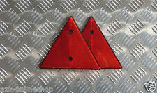 2x Dreieck Reflektor / Rückstrahler gem. StVZO rot für Anhänger