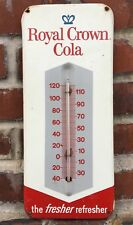 Vintage Royal Crown RC Cola Metal Thermometer 1960s 13 1/2in x 5 3/4in NICE!