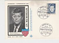 Germany 1964 Memoriam of J.F.Kennedy Berlin Slogan Cancel Stamps Card Ref 23337