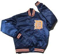 Vintage Detroit Tigers Satin Starter Jacket Mens Medium Kaline 80's VTG Trammel