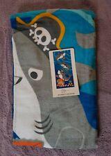 """Mainstays Beach Towel Bath Towel Sharks 100% Cotton 28""""×60"""