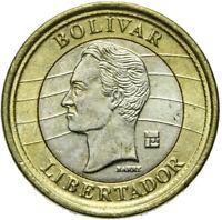 Venezuela - Münze - 1 Bolivar 2007 - kleine Ziffer 1 - Bimetall