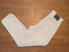 Vintage cut JORDACHE White Cotton JEANS High waist Tapered leg Ankle length 8 ?
