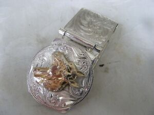 RARE MONEY CLIP FOR NOTES by MONTANA SILVERSMITHS LOVELY CONDITION...