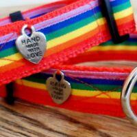 Rainbow Pride dog collars