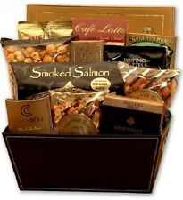 Holiday Gift Basket Gourmet Chocolates Cheese Spread Coffee Latte And Many More