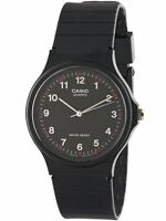 Casio Men's Analog Quartz Water Resistant Black Resin Watch MQ24-1B