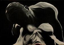 E. CINISELLI OLIO tela 35x50 + catalogo con mario schifano marco lodola Warhol