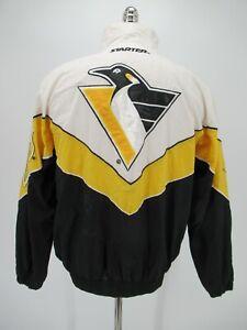 M4696 VTG Starter Pittsburgh Penguins Men's Hockey-NHL Nylon Jacket Size S