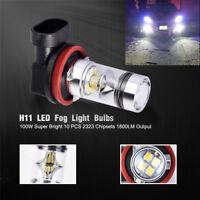 2pcs 6000K H11 H8 HID white 2323 LED DRL Xenon Lights Fog Bulb for car truck