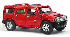 NEU: Modellauto SUV Hummer H2 rot 1:40 Neuware von WELLY Sammlermodell