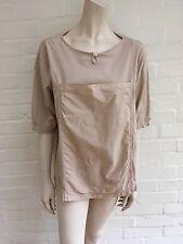 Yacco Maricard Beige cotton T- shirt Plus size L - XL Ladies