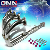 J2 FOR S2K AP1//AP2 EXHAUST MANIFOLD 4-2-1 RACE HEADER+PURPLE WASHER CUP BOLTS