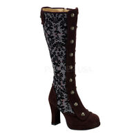 Victorian Steampunk Gothic Pirate Cosplay Wedding Bridal Knee High Boots