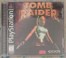 New listing Tomb Raider (Sony PlayStation 1) Ps1 Vg complete in box cib original black label