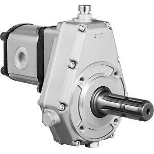 Tractor Hydraulic Fluid PTO Pump Gearbox Assembly 540RPM 20 cc 40 L/min w/ Tube