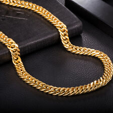 9mm Necklet Charming Necklace For Unisex Luxury Elegant Snake Chain Gold Plated
