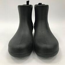 CROCS Black Short Classic Winter Wellington Chelsea Boots Chic Mens UK 10 3796
