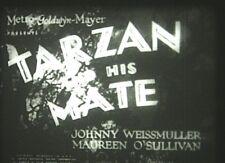 TARZAN AND HIS MATE (1934) 16mm film.  Johnny Weissmuller. Best Tarzan movie yet