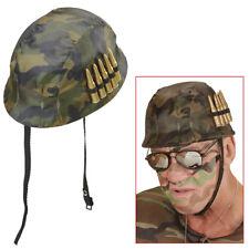 TARNHELM & MUNITION Soldaten Militär Vietnam Krieg Helm Kostüm Party Deko 23938