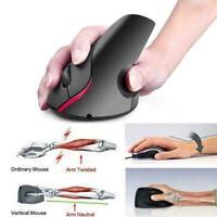2,4 g ergonomische Maus optische vertikale Maus wiederaufladbare Präzi drah X6M7