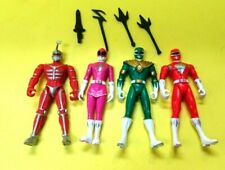 "Vintage Saban Power Rangers 4"" Action Figures w/Weapons-Light Playwear 4 Figures"