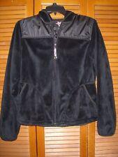 Women's ZeroXposur Black Hooded Softshell Jacket SZ MED Soft Fleece Full Zip
