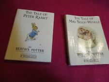 2 Vintage Beatrix Potter Mini Books The Tale of Peter Rabbit & Mrs.Tiggy-Winkle