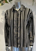 Wednesdays Girl Blouse Top Shirt Size 8,12,18 & 22 Black Stripe Relaxed Fit GM90