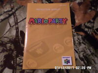Mario Party 64 (Nintendo 64) Instruction Manual Booklet Only... NO GAME