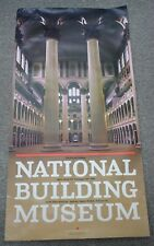 Huge Original National Building Museum Poster Vintage Architecture Washington DC