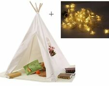 Kids Tent Teepee Play Indoor Children Outdoor Playhouse Indian Canvas House Hut