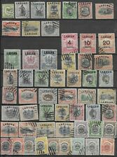 4266: North Borneo; selection of 93 stamps, incl. Labuan. 1879-1909