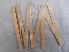 Mètre pliant en laiton, Outil ancien de mesure XIX