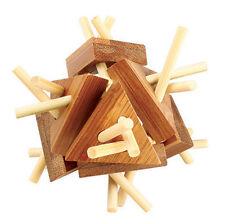 casse tete en bois bambou, modèle Tri-Star, difficulté 3 etoiles