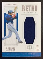 2019 Panini National Treasures Retro Materials ROBERTO ALOMAR Patch Relic SP /49