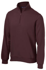 Sport-Tek Men's Casual Twill Taped Rib Knit Cuffs Quarter Zip Sweatshirt. ST253