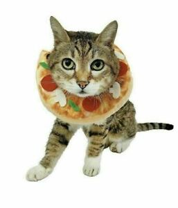 Cat BOUTIQUE Plush PIZZA Kitty Costume Collar Halloween Cosplay Dress-Up B6-9