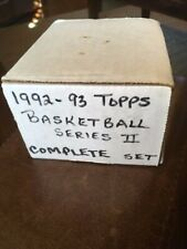 1992-93 topps basketball box series 2 Complete Set Jordan 50 pt Has shaq Rookie!